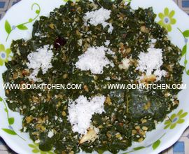 Sajana Saga Bhaja ( Fried Drumstick Leaves )